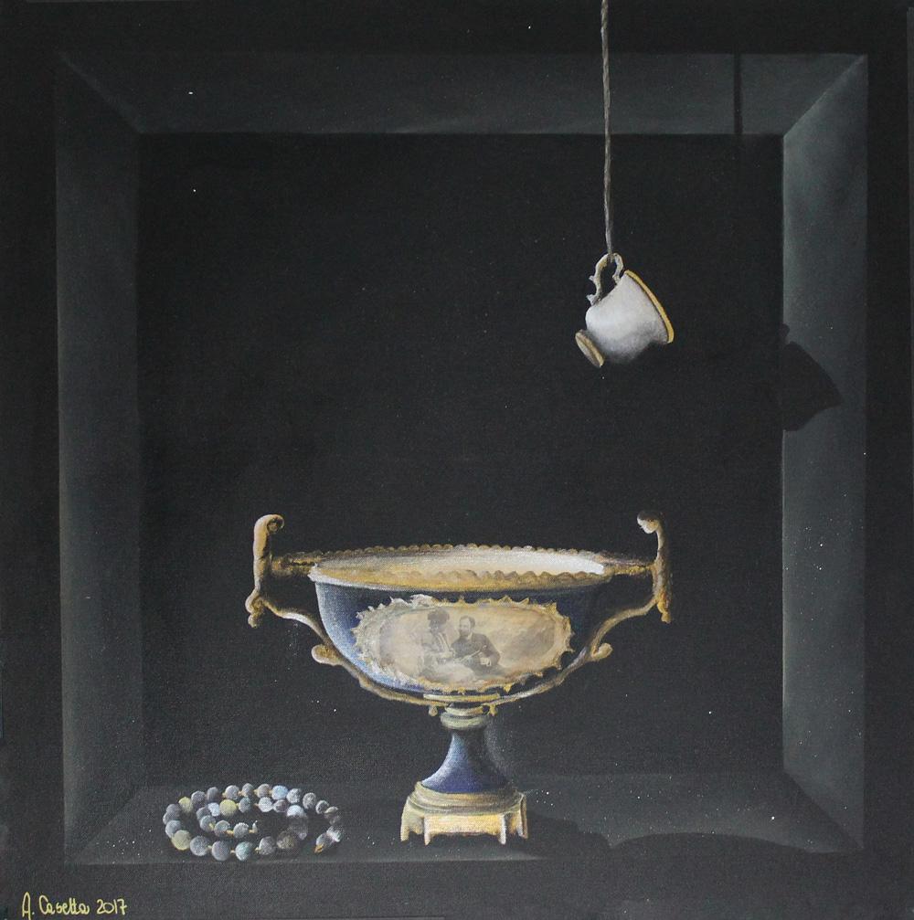 Alessandra Casetta Antichita Acrilico su tela 80x80 cm
