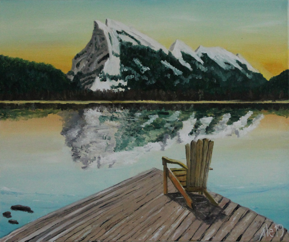 Alessandro Beltrami The relax olio su tela 60x50 cm