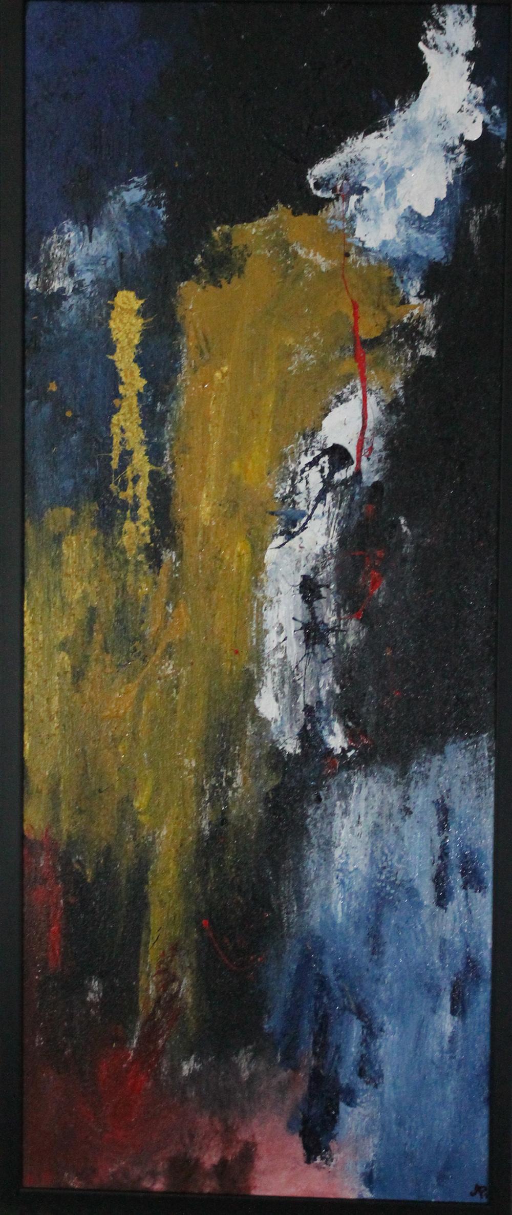 Alessandro Priolo La notte parla Acrilico e materico su tela 100x50 cm