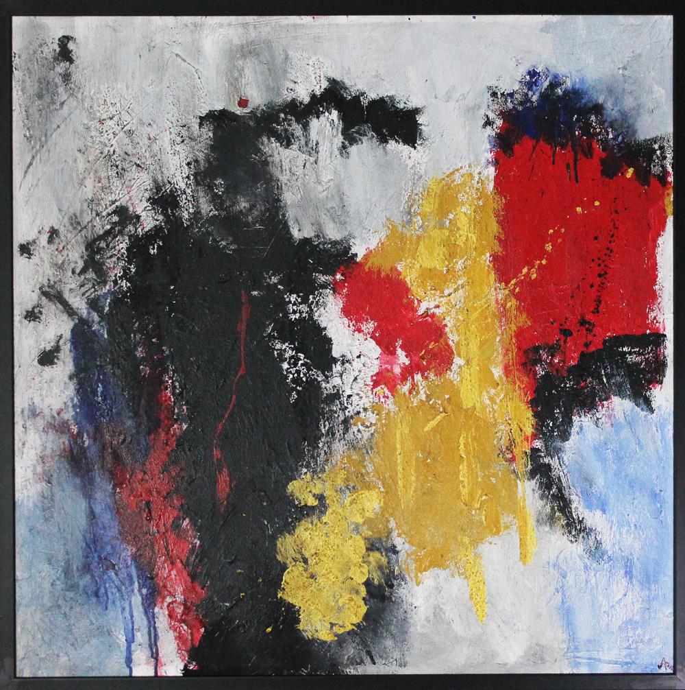 Alessandro Priolo Schegge di vita Acrilico e materico su tela 80x80 cm