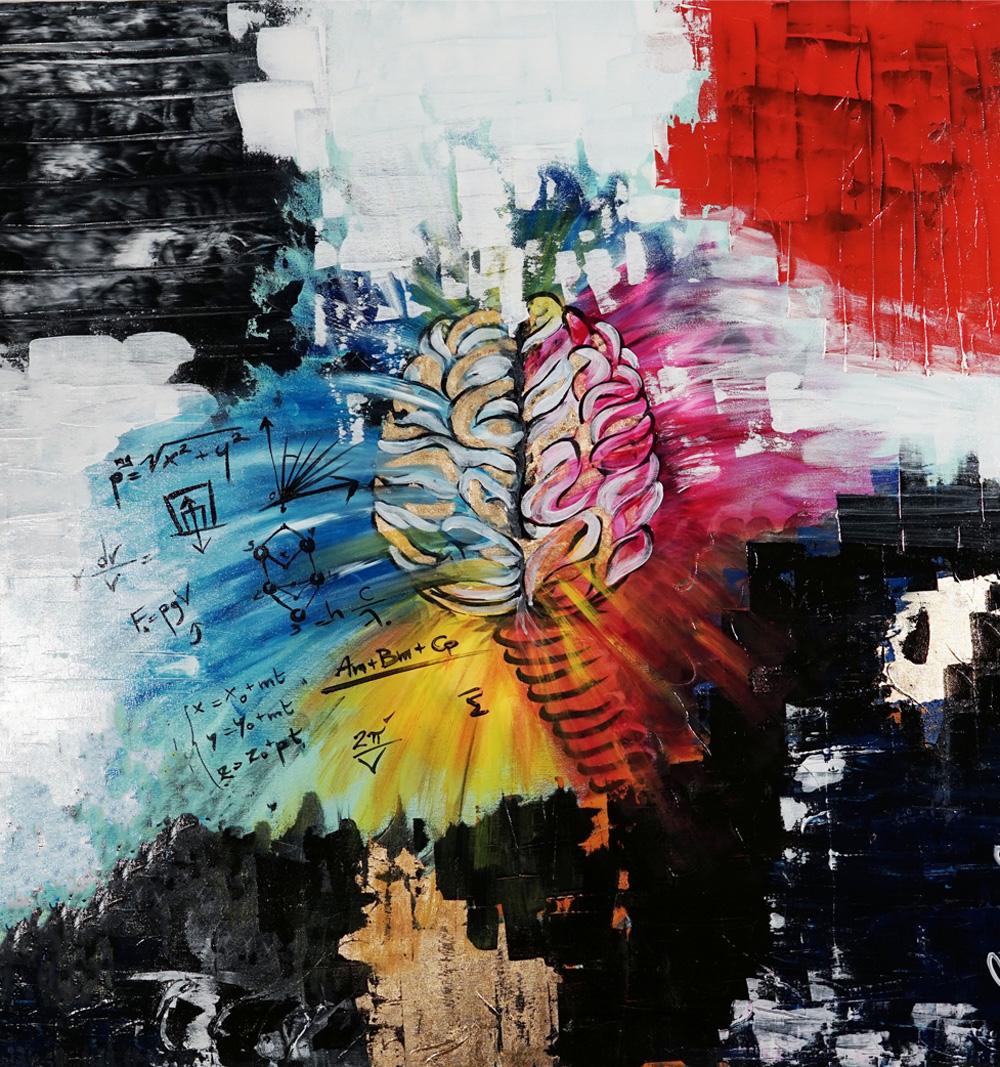 Claudia Crestani Genio e follia Acrilico su tela 100x100 cm