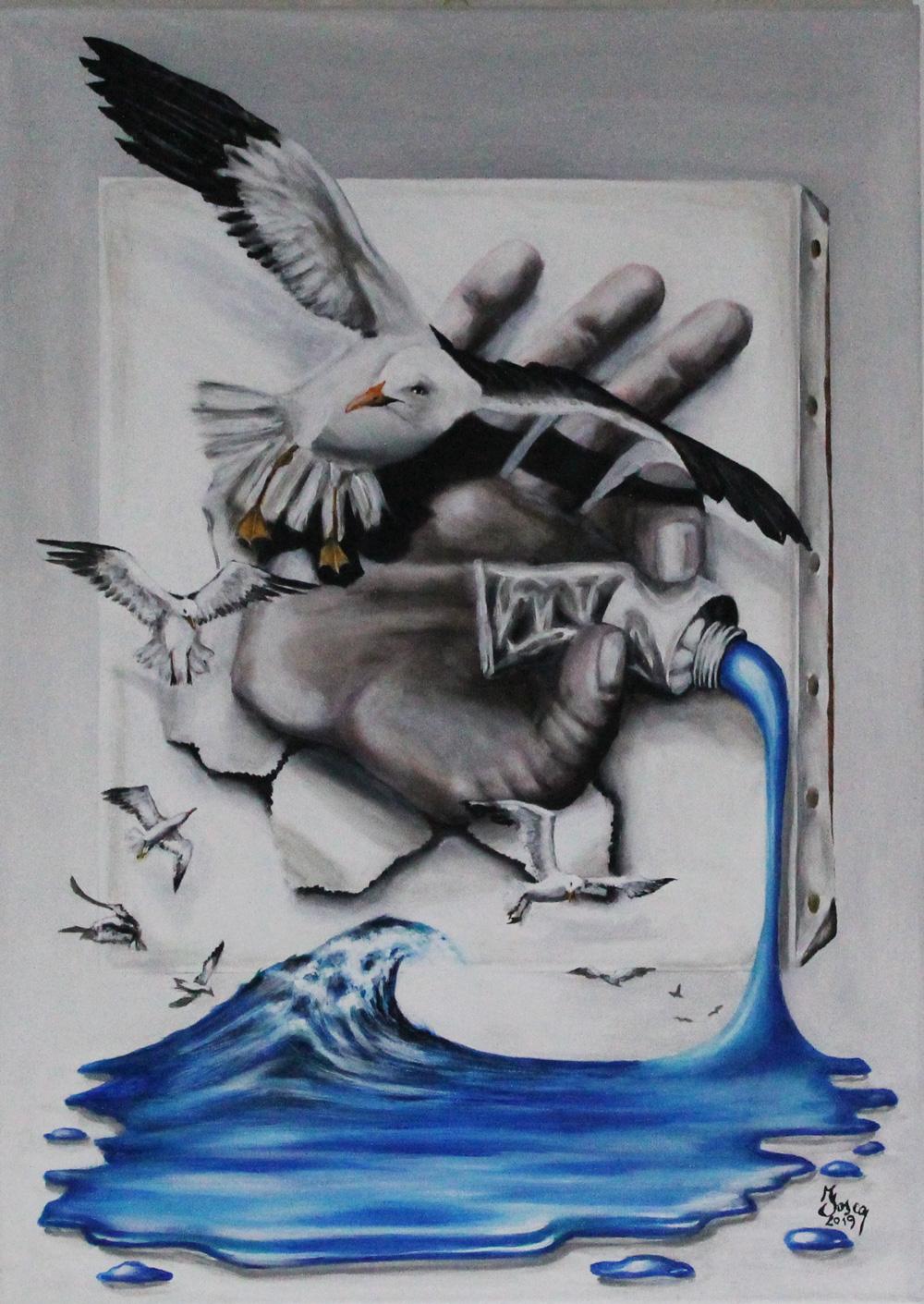 Fosca Villa Il colore della verità Acrilico su tela 50x70 cm