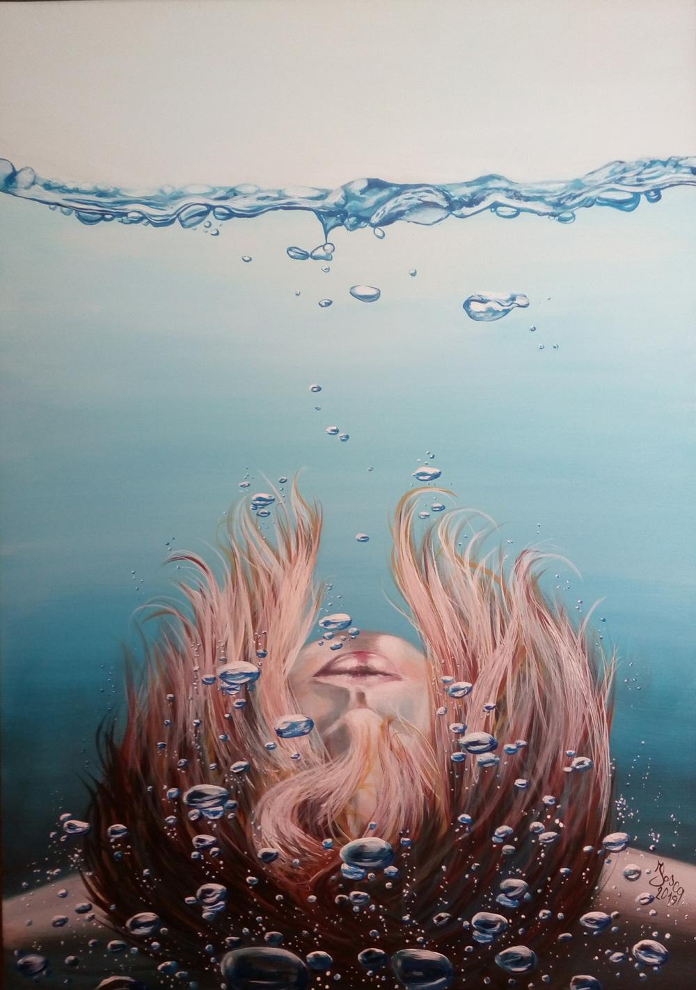 Fosca Villa Il rumore dell'acqua Acrilico su tela 50x70 cm