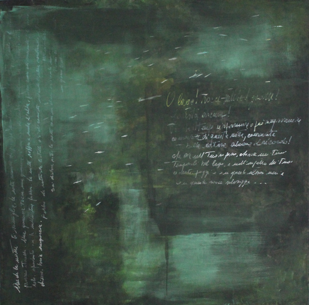 Laura Zilocchi Le lac Acrilico su tela 80x80 cm