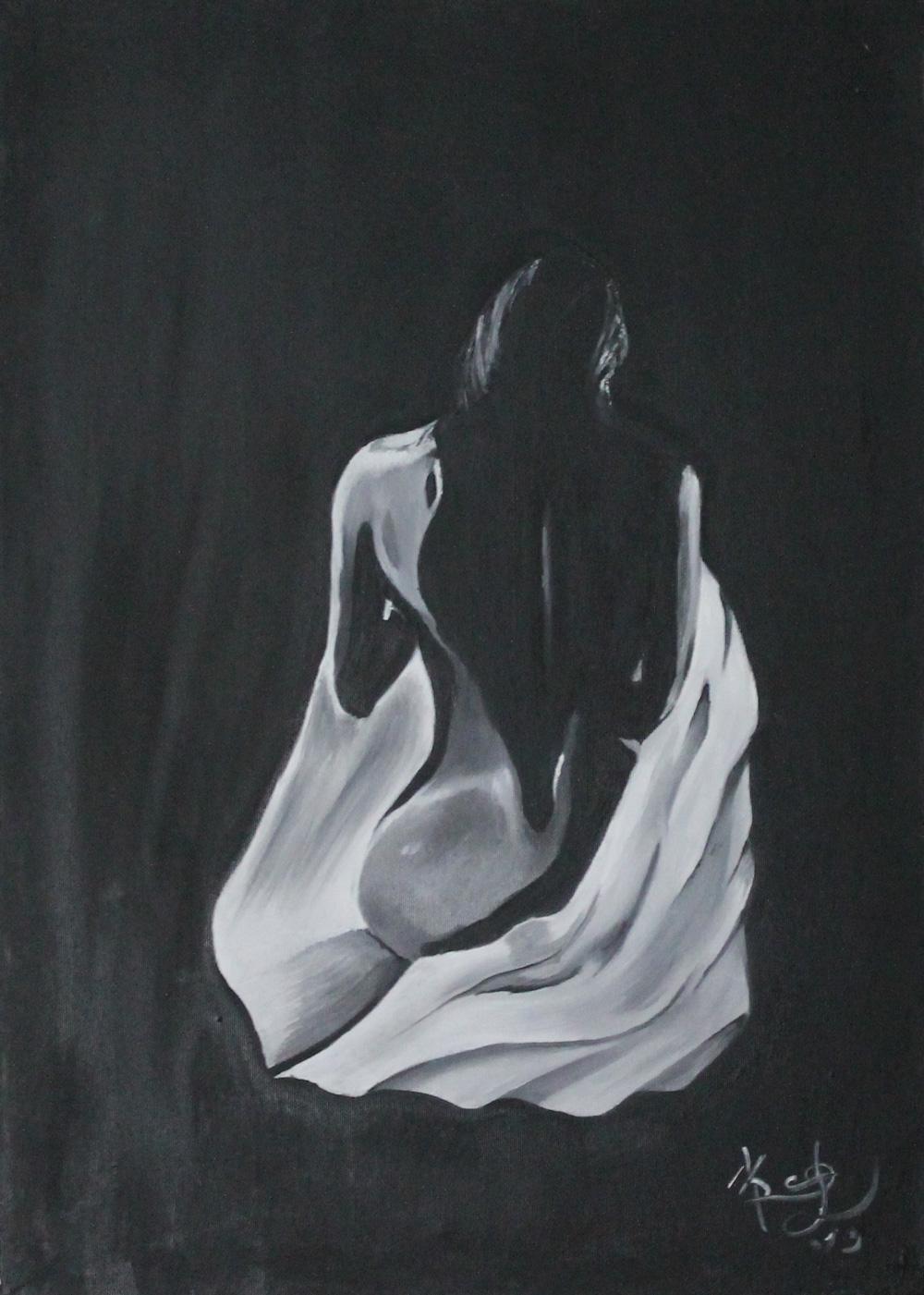 Marco Orecchioni Ombre Olio su tela 50x70 cm