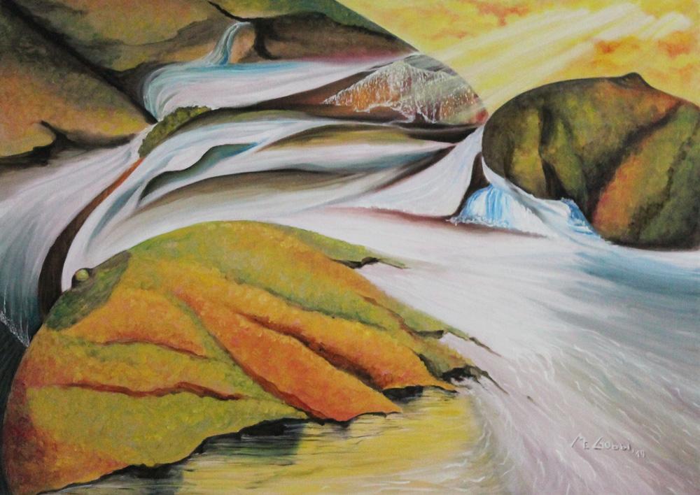 Maria Emma Gobbi Ruscello dell'eros Olio su tela 70x50 cm