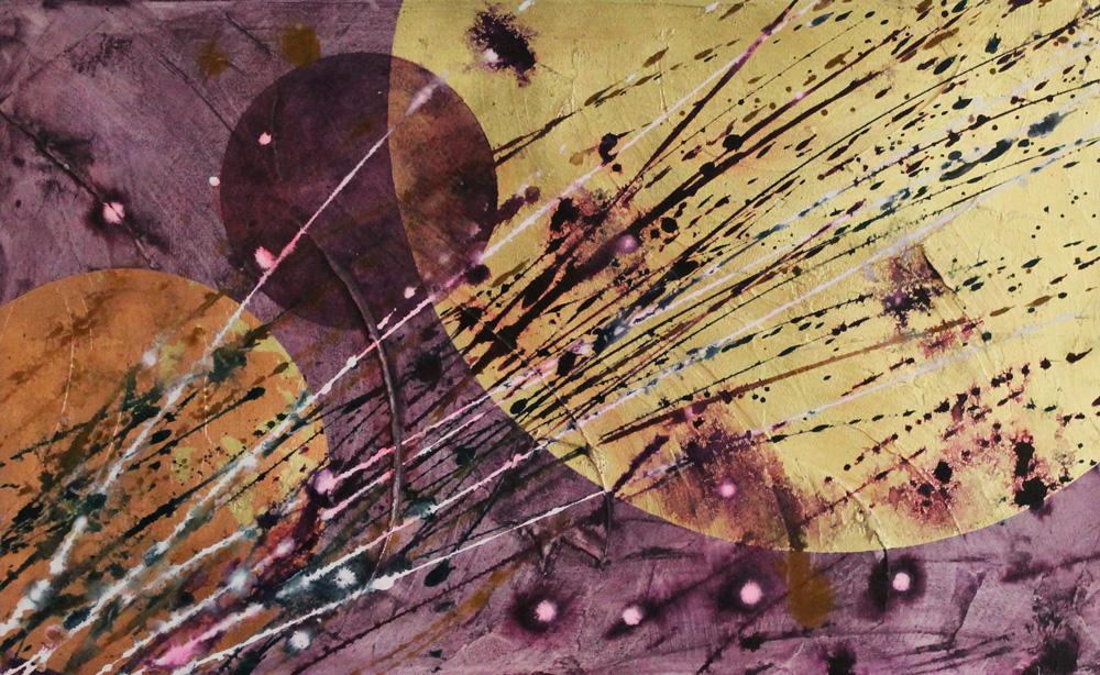 Maria Galano Creazione in atto sul rosso Acrilico su tela 81x50 cm