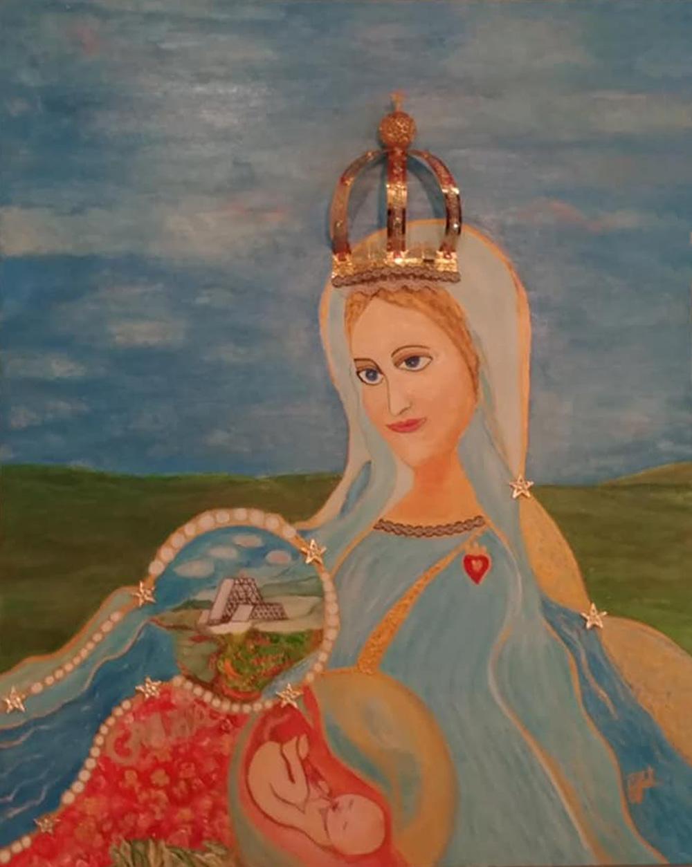 Maria Grazia Foti Maria madre e regina Acrilico su tela 80x100 cm