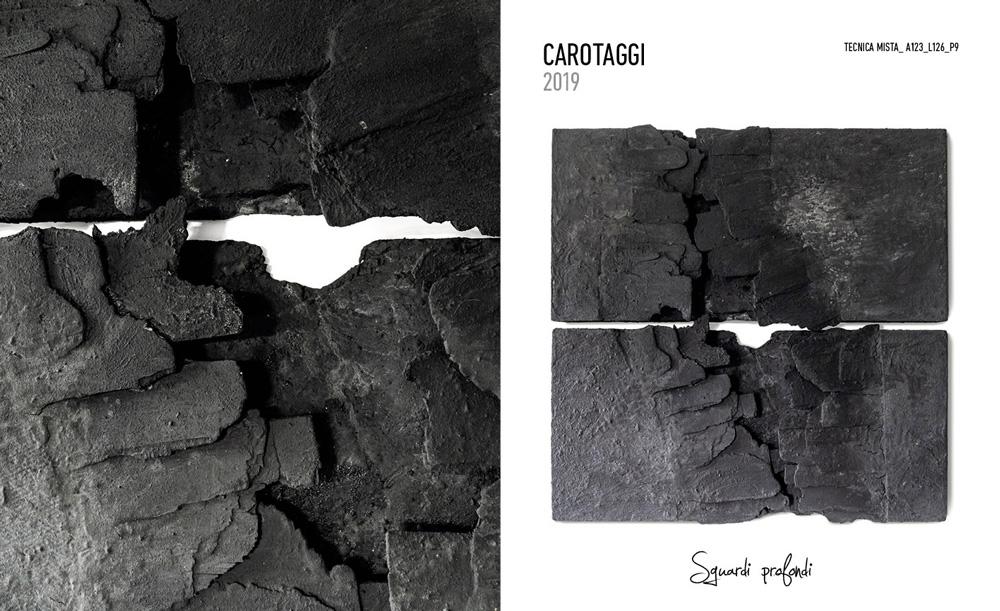 Maura Manfrin Carotaggi Tecnica mista 126x123 cm