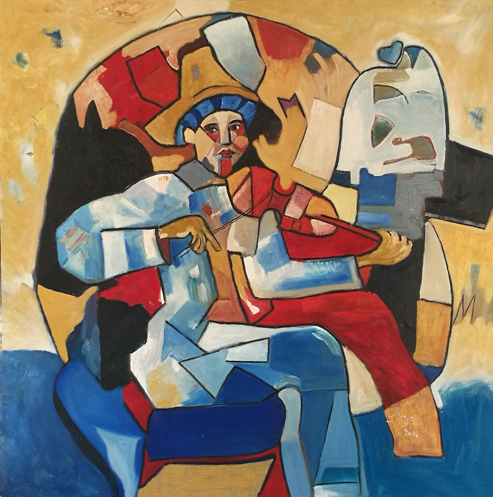 Minja Nikolcin Pierro's dream Olio su tela 90x90 cm