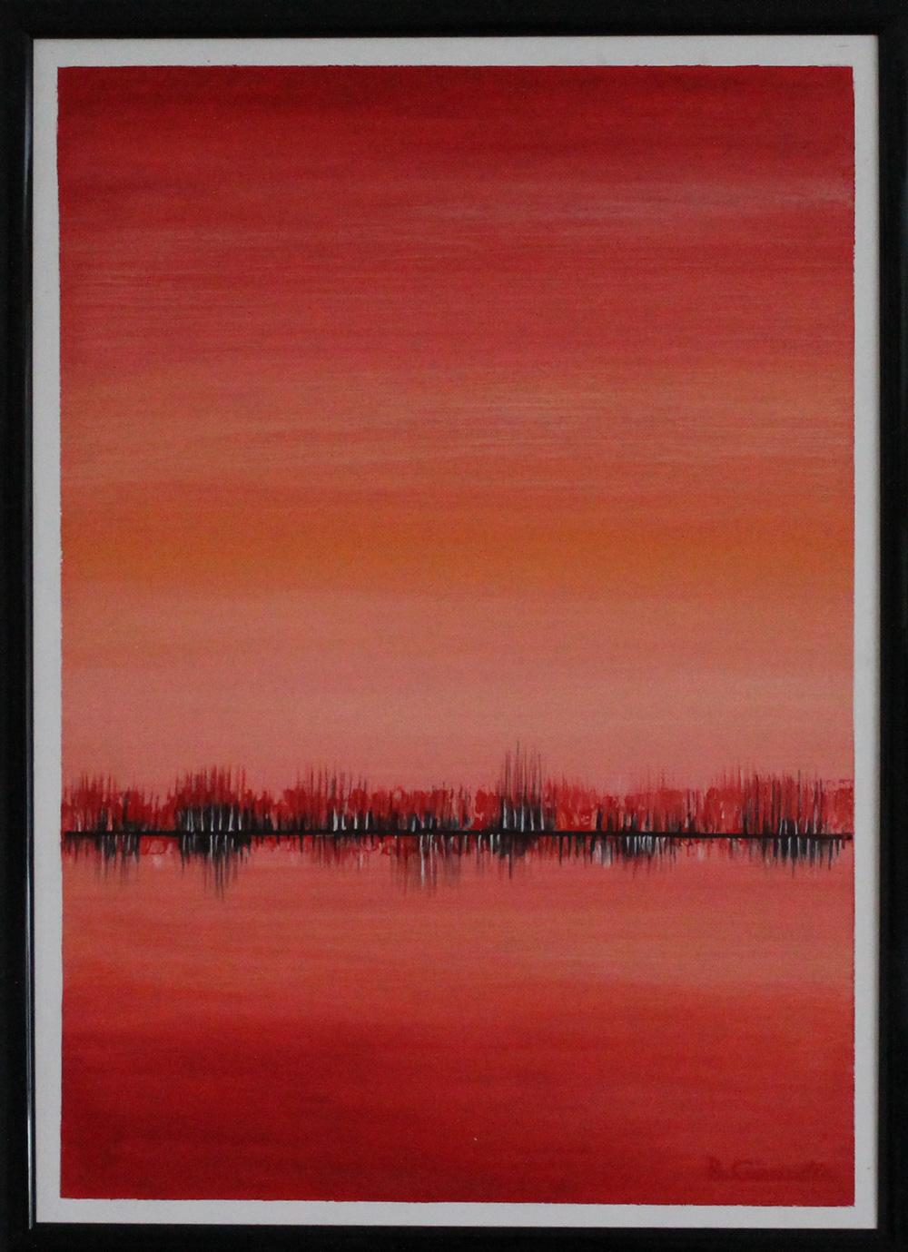Renzo Gianella Vibrazioni cromatiche Acrilico su tela 50x70 cm