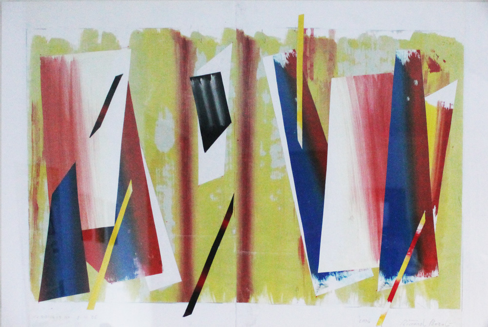 Riccardo Pezzoli Obliquo Collage 42x61,5 cm
