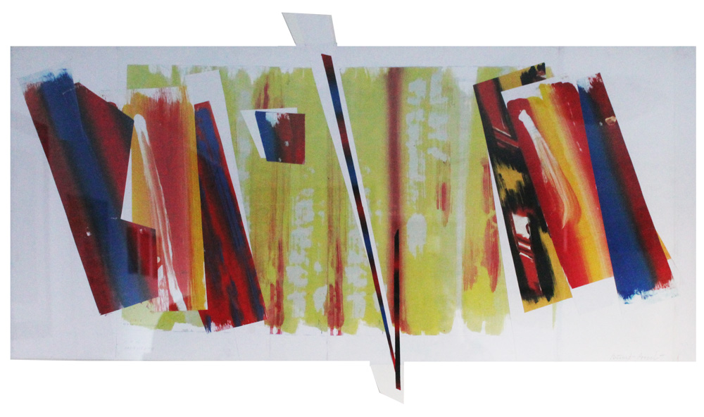 Riccardo Pezzoli Cadenzato Collage 53,5x86,5 cm