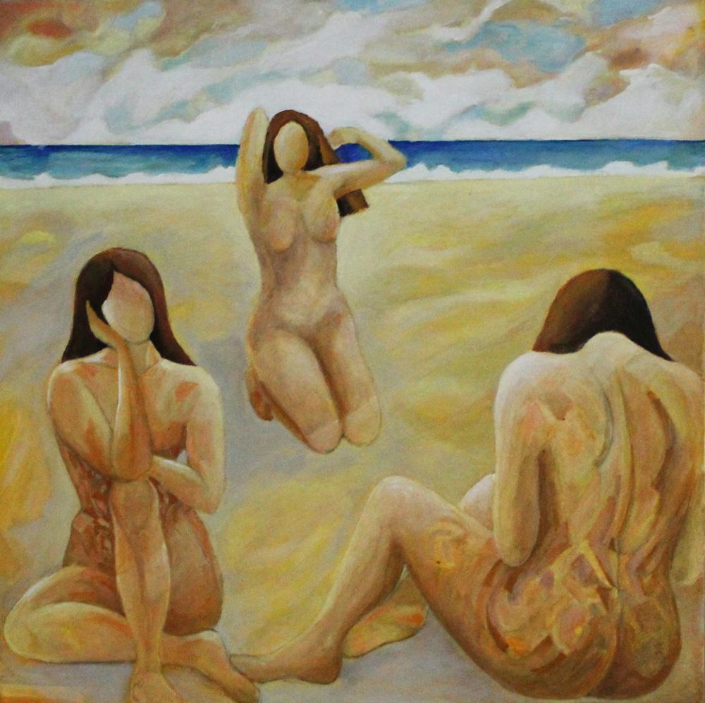 Roberta Coral Forme mutanti olio su tela 90x90 cm
