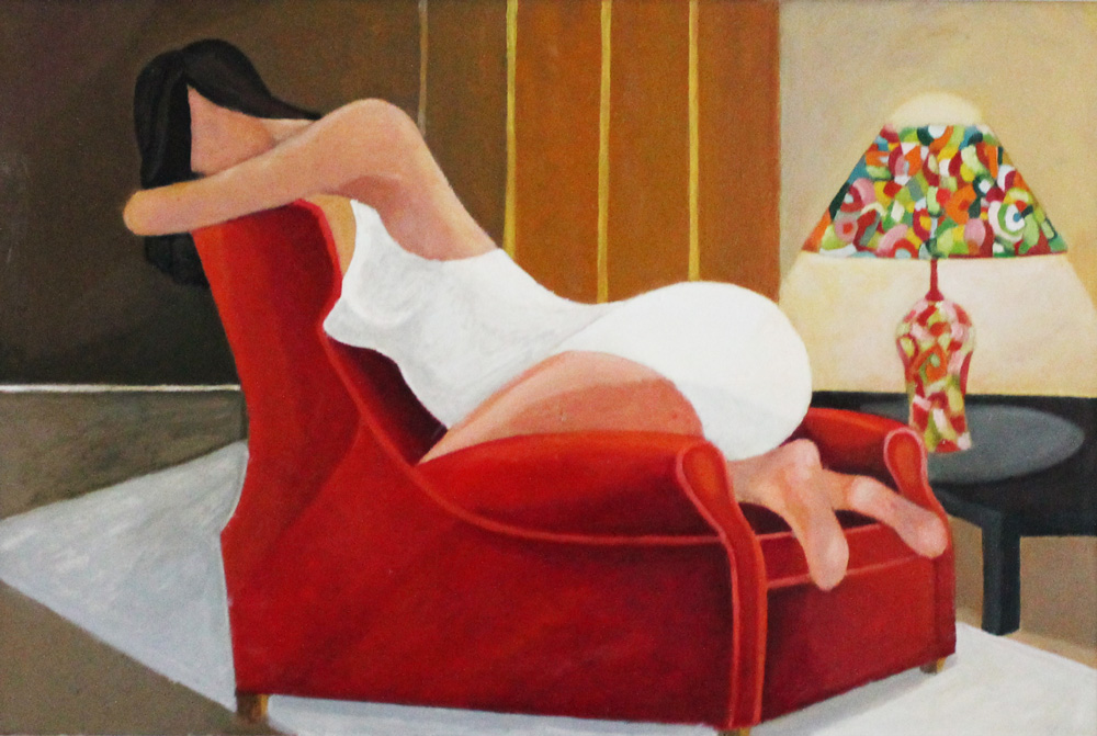 Roberta Coral Relax olio su tela 60x90 cm