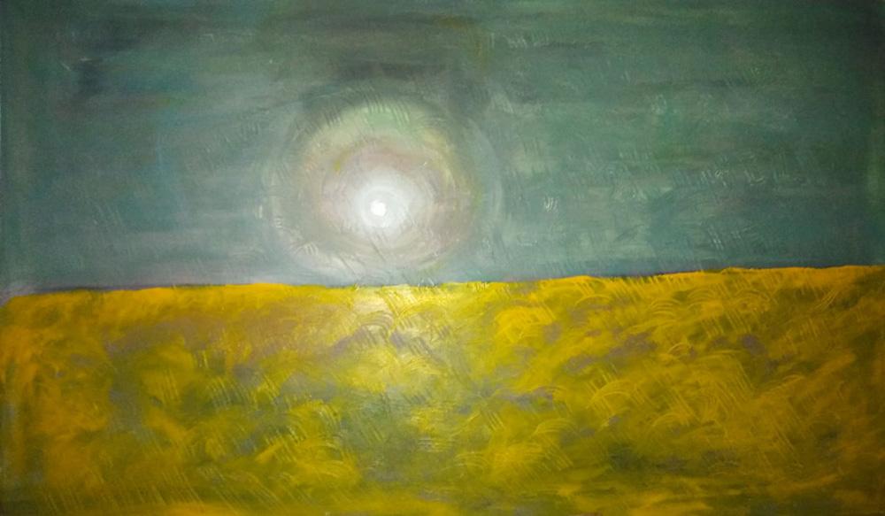 Rosalba Mangione Poi il nulla Acrilico su tela 100x60 cm