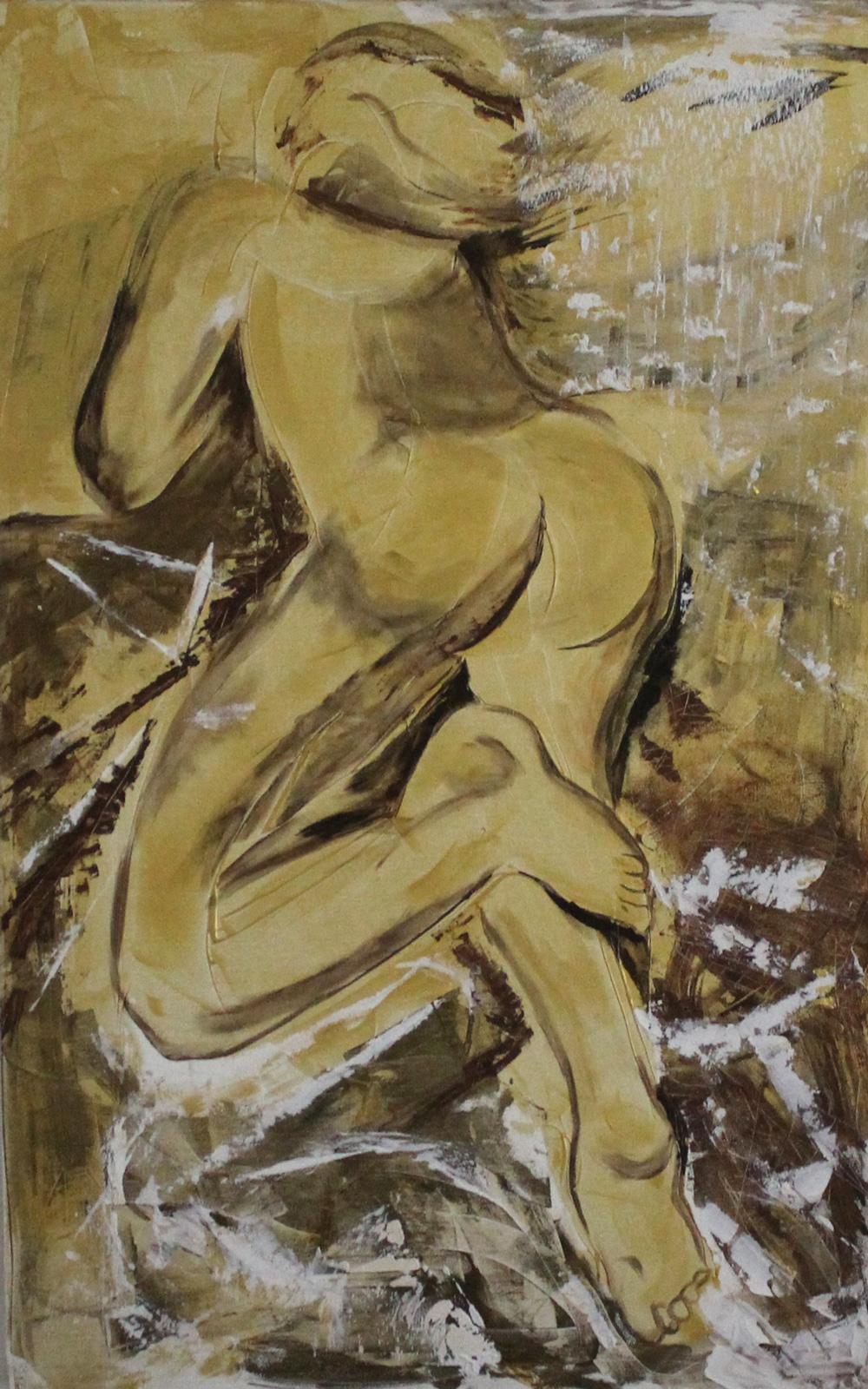Serena Casali Uomo d'oro Acrilico su tela 110x90 cm