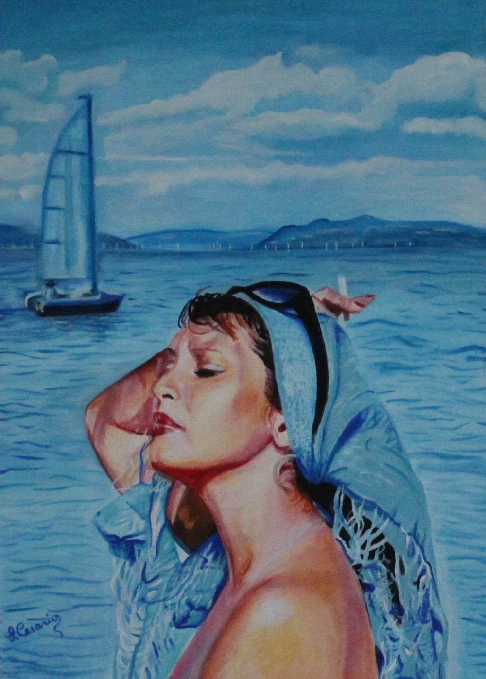 Silvana Cesario Charme Olio su tela 70x50 cm