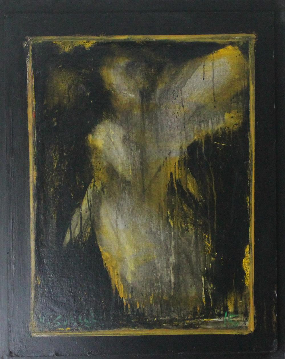 Valeria Gubatti Angelo giallo Tecnica mista 60x75 cm